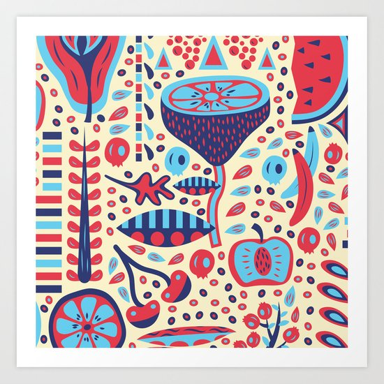 FRUIT PATTERNS Art Print