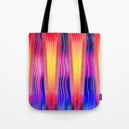 Hot Color Waves Tote Bag