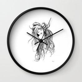Art Noveau Hair Wall Clock
