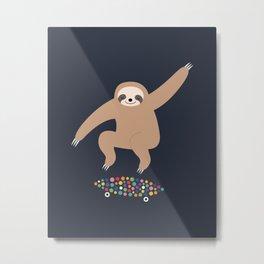 Sloth Gravity Metal Print