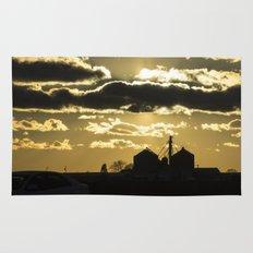 Farm Sunset Silhouette Rug