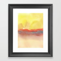 Watercolor abstract landscape 01 Framed Art Print
