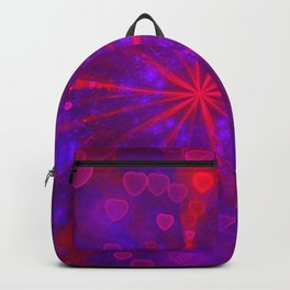 Valentine's Day | Romantic Galaxy | Universe of red, blue, purple hearts Backpack