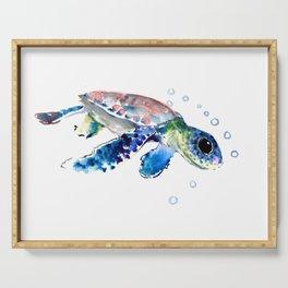 Sea Turtle Illustration Serving Tray