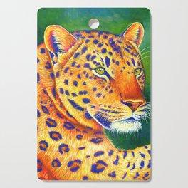 Colorful Leopard Big Cat Wild Cat Cutting Board