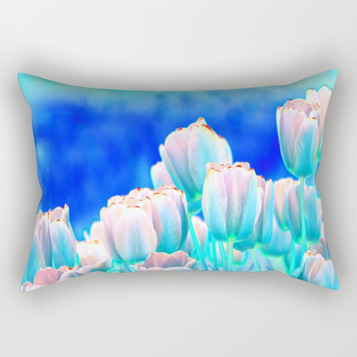 Tulips in Spring Abstract Rectangular Pillow