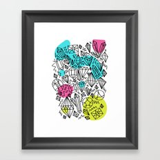 gem stones Framed Art Print