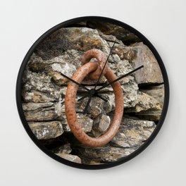 Rusty mooring ring Wall Clock