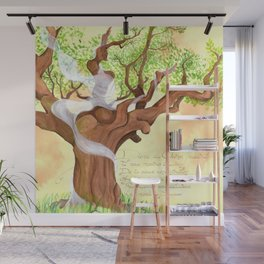 The concentrated Lady of the Oak Wall Mural