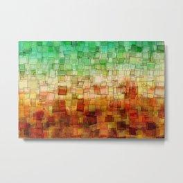 Golden Tide Mosaic Metal Print