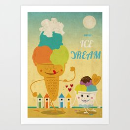 Sweet ice dream  Art Print