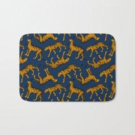 Tigers (Navy Blue and Marigold) Bath Mat