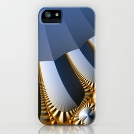 Pleated abstract with gold and jewels iPhone Case