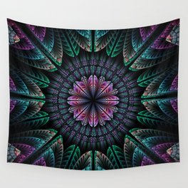 Magical dream flower, fractal abstract Wall Tapestry