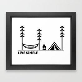 Live Simple Framed Art Print