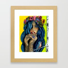 PinUp Betty Framed Art Print