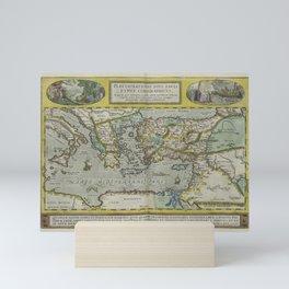 Vintage Map - Ortelius: Theatrum Orbis Terrarum (1606) - Journeys of Saint Paul Mini Art Print