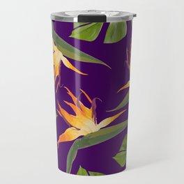 Monstera - and 3 Paradise Flowers Travel Mug