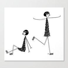Roller skating Canvas Print