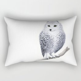 Snowy Fowl Rectangular Pillow