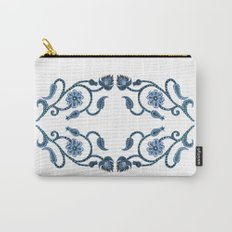 Blue Paisley Double Heart 1 Carry-All Pouch