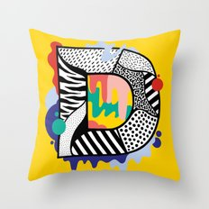 D for …. Throw Pillow