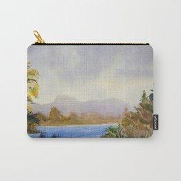 Original Watercolor Landscape Mountain Lake Carry-All Pouch