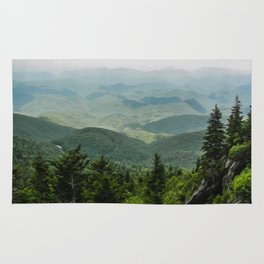 View from the Mountain Top Rug