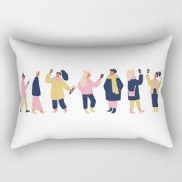 Social Media People Rectangular Pillow