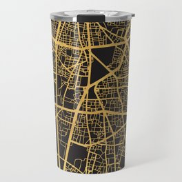BEIRUT LEBANON GOLD ON BLACK CITY MAP Travel Mug