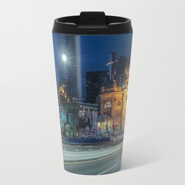 flinders street station in the blue hour Travel Mug