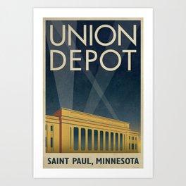 Union Depot Art Deco Poster Art Print
