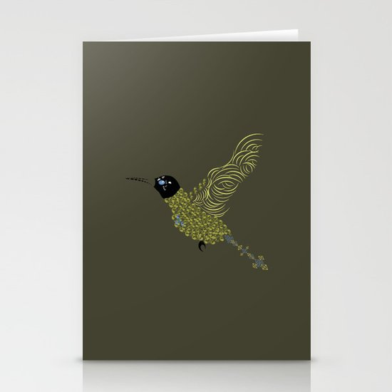 Abstract Hummingbird Stationery Cards