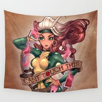 tim burton Wall Tapestries featuring CAN'T TOUCH THIS by Tim Shumate