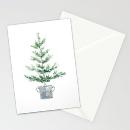 Christmas fir tree Stationery Cards