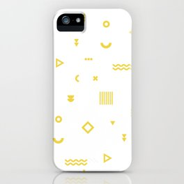Yellow Memphis Pattern iPhone Case