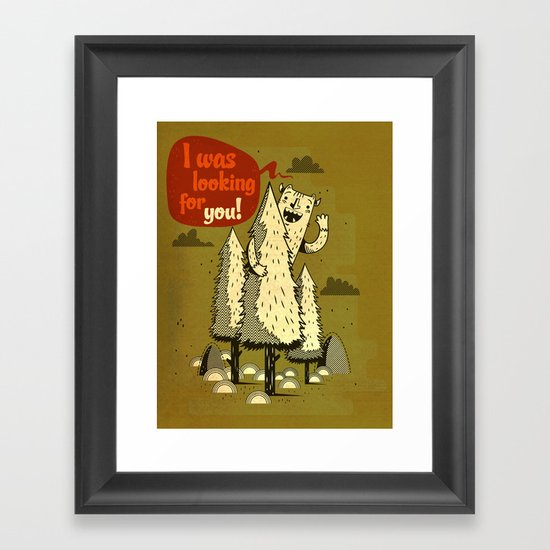 The Woods Monster. Framed Art Print