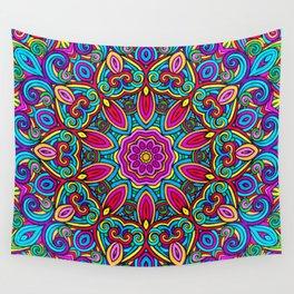Saratoga Rainbow Swirls Absract Mandala Wall Tapestry