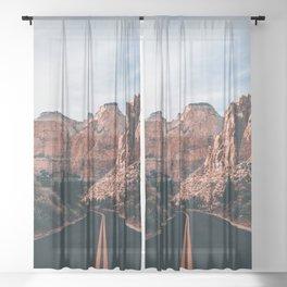 Roads of Zion Sheer Curtain