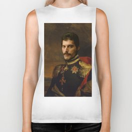 Freddy Mercury Classical Regal General Painting Biker Tank