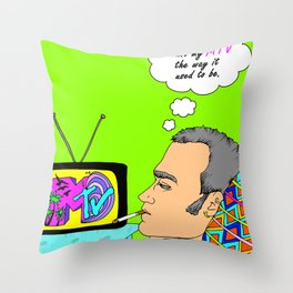 I Want my MTV the way it used to be, 90's Ewan McGregor Illustration Throw Pillow