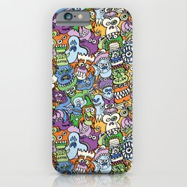 Halloween stars get crazy and hungry in a spooky pattern design iPhone Case