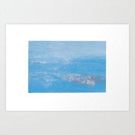 Blue sky. modern art. Art Print