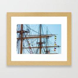 Full Mast Framed Art Print