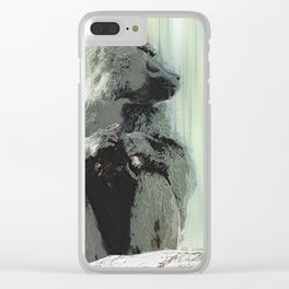 Baboon Distractions Clear iPhone Case