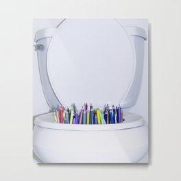 toilet pencils Metal Print
