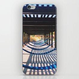 the beach and shadows Playa del Carmen iPhone Skin