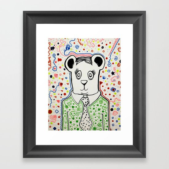 Bear Collaboration Framed Art Print