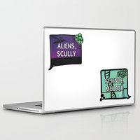 aliens Laptop & iPad Skins featuring Aliens, Scully by raynall