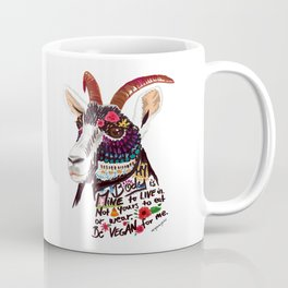 Go vegan goat - my body is mine to live in Coffee Mug